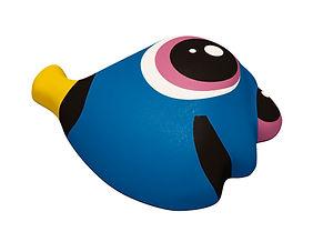 Игрушка из резиновой крошки Рыба Голубой