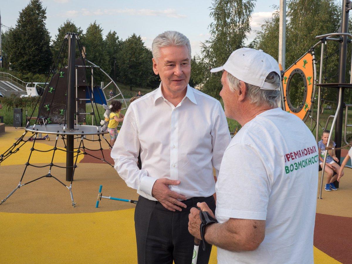Сергей Собянин открыл Ландшафтный парк М