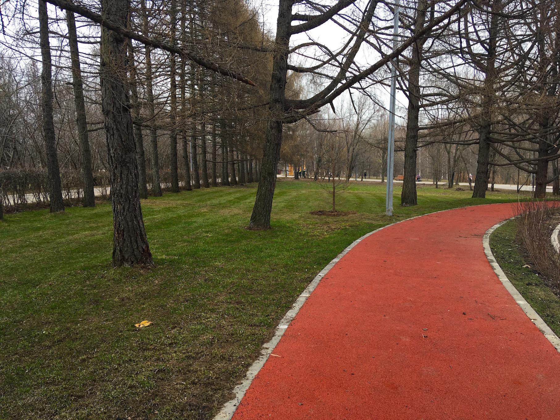 Резиновое покрытие в парке 50 летия Октября
