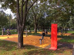 Резиновое покрытие площадки для воркаута