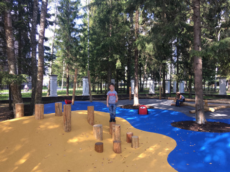 Геопластика для детских площадок Rubber