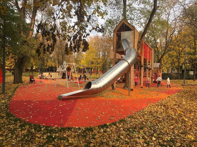 """Завершены работы по устройству покрытий в парке """"Красногвардейские пруды"""""""
