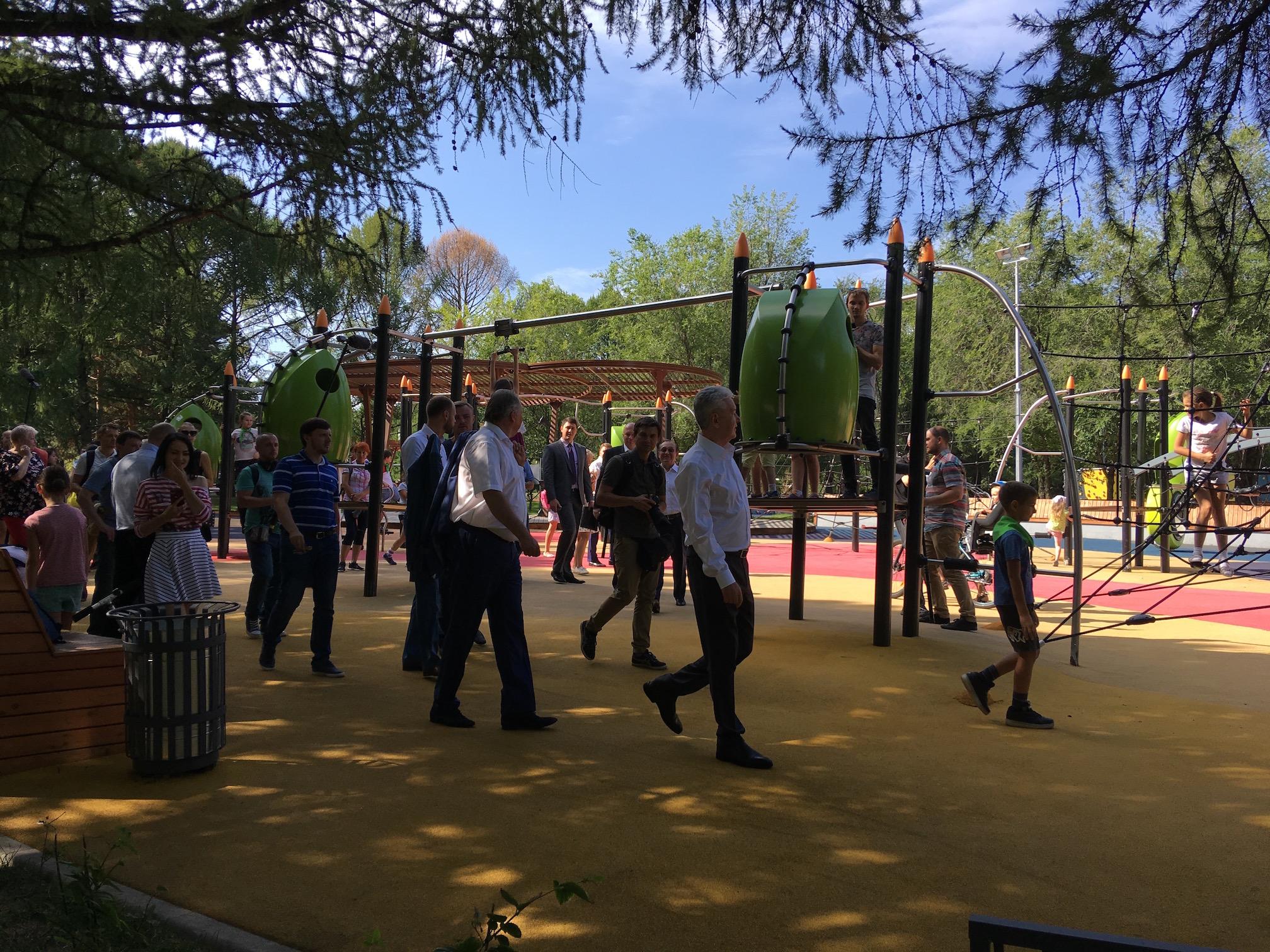 Открытие парка 50ти летия Октября