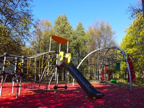 Травмобезопасное покрытие детской площад