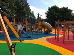 Замена покрытия в парке Красная пресня