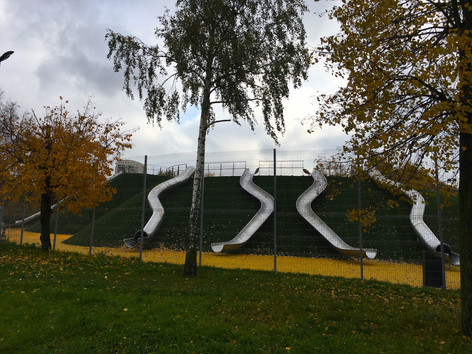 Геопластика детских площадок в парке Оли