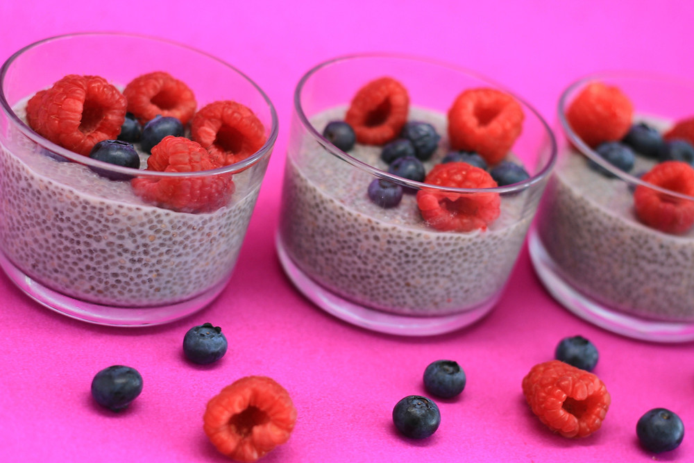 Chia seed pudding with Eternae by Nature Organic Black Chia Seeds. Eternae by Nature's products are 100% non-GMO, certified organic, vegan, plant-based superfoods. Discover Eternae.