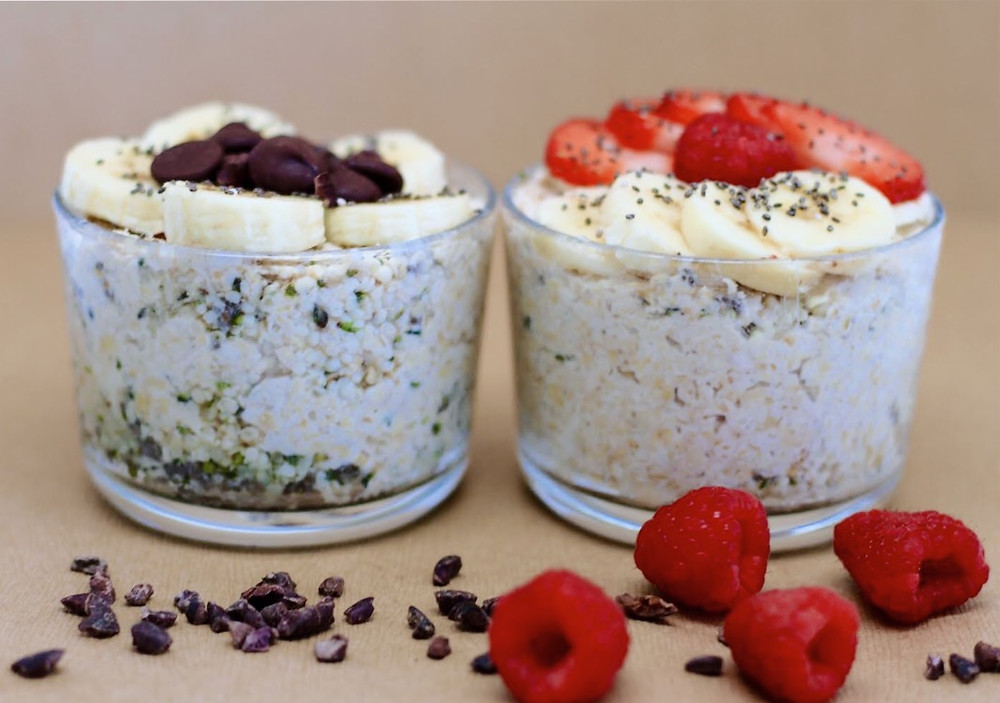 Superfood Overnight Oats made with Eternae by Nature Organic Hemp Seeds. Eternae by Nature's products are 100% non-GMO, certified organic, vegan, plant-based superfoods. Discover Eternae.