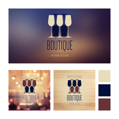 Boutique wine Club Branding