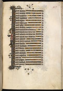 "British Library Add MS 3277, ""The Bohun Psalter"" (England, 1356-73), f.108r."