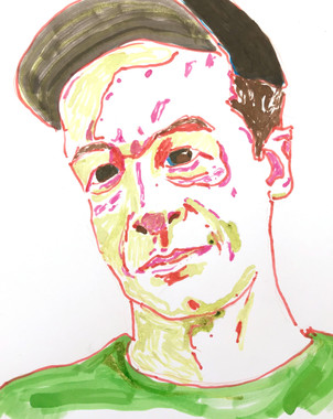 Self-Portrait in Green