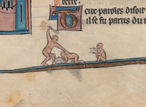 Beinecke MS 299, Arthurian Romance (N. France, 1275-1300), f.325r.
