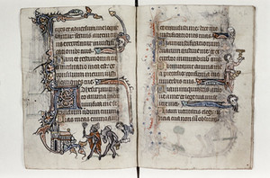 Bodleian Library MS Douce 6, Book of Hours (Ghent, c.1320-30), ff.17v-18r.