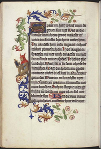 The Hague, RMMW 10 F 50, Book of Hours, Master of Catherine of Cleves Lieven van Lathem (Utrecht, 1460), ff. 34v, 126v, and 157v.