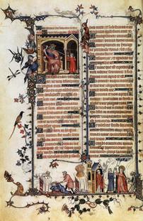 "Paris B.N. MS latin 10483, ""Belleville Breviary"" illum. Jean Pucelle (Paris, 1323-26), f.28v"
