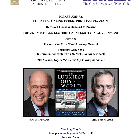 2021 McNickle Lecture on Integrity in Government