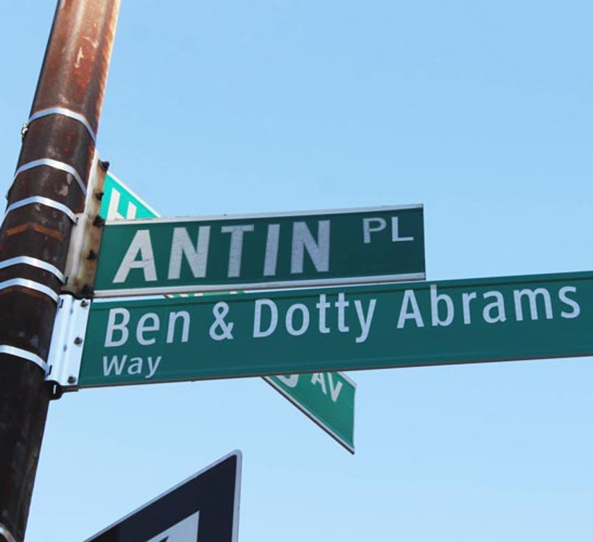 Street Naming Ceremony for Ben and Dotty Abrams Way (December 3, 2013)