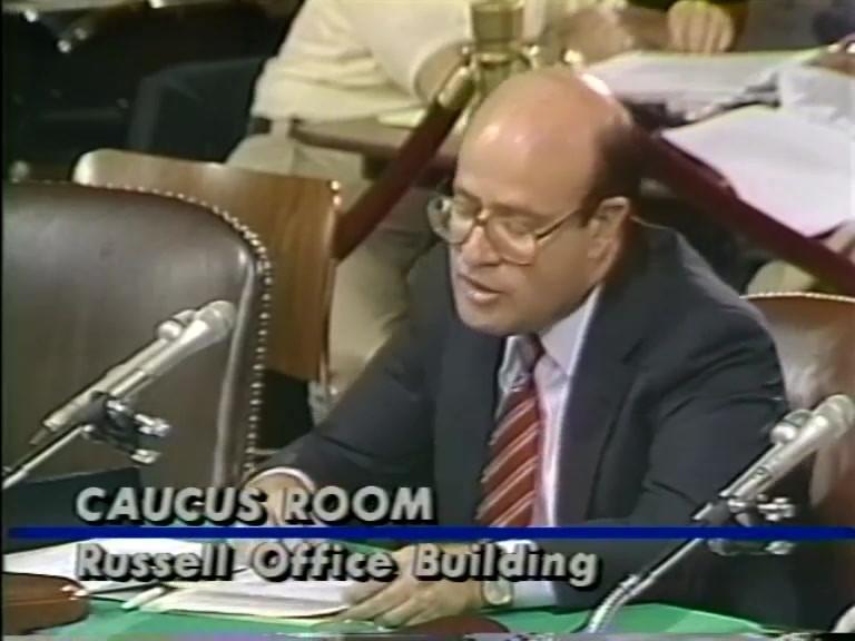 Bob Abrams Senate Committee Testimony re: Bork Nomination to United States Supreme Court