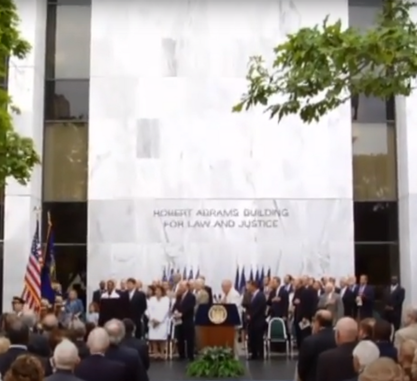 Dedication Ceremony for Robert Abrams Law and Justice Building in Albany
