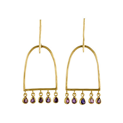 CLOSED ARCH SAPPHIRE EARRINGS