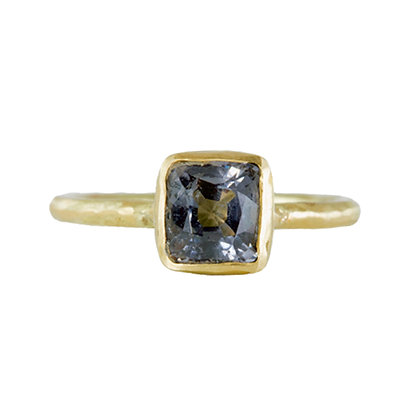 SMALL SQUARE SPINEL RING