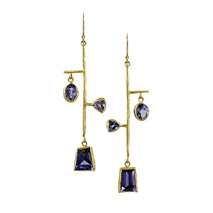 TANZANITE MOBILE EARRINGS