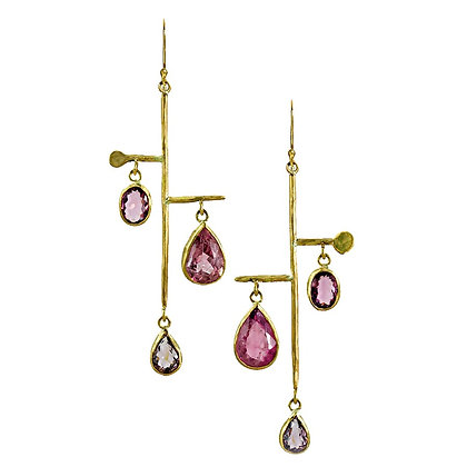 PINK TOURMALINE MOBILE EARRINGS