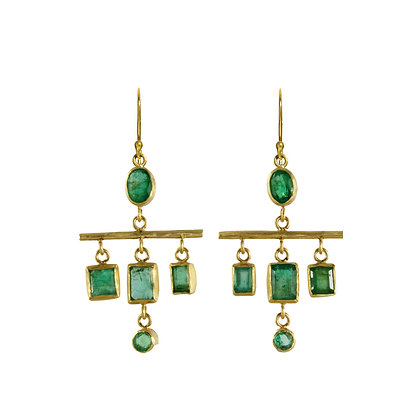 EMERALD MINI CHANDELIER EARRINGS