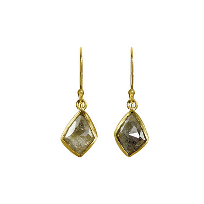 KITE SHAPED DIAMOND EARRINGS