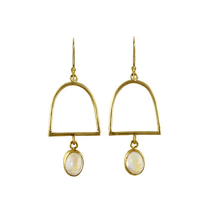 CLOSED ARCH MOONSTONE EARRINGS