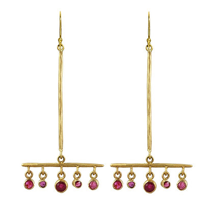 RUBY BROOM EARRINGS