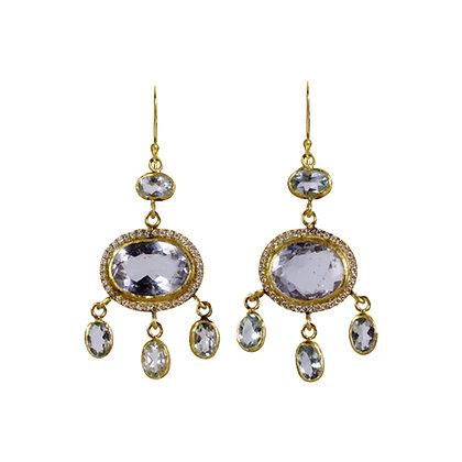 AQUAMARINE AND DIAMOND JOSEPHINE EARRINGS