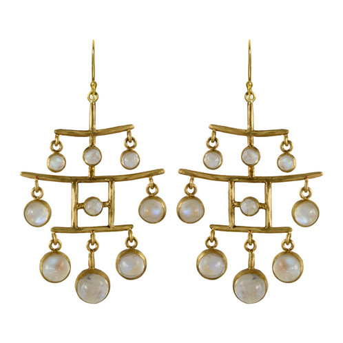 Moonstone Pagoda Earrings