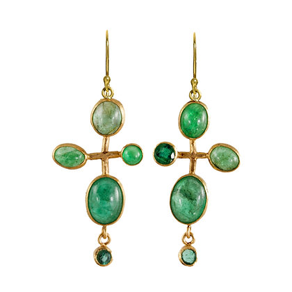 EMERALD BUBBLE EARRINGS