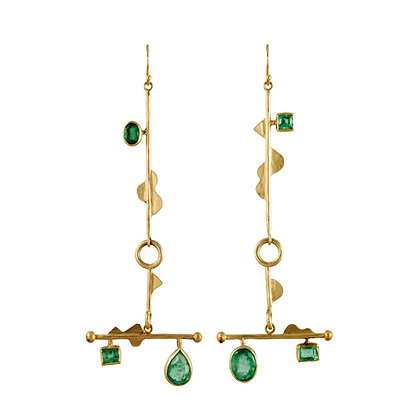 ONE OF A KIND ORPHEUS EMERALD EARRINGS