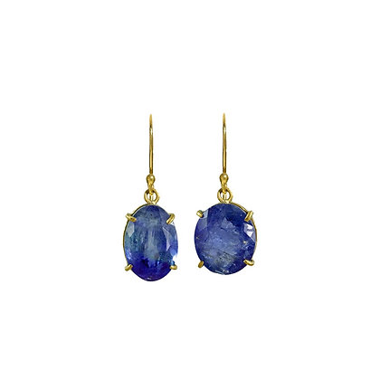 BLUE TANZANITE SINGLE DROP EARRINGS