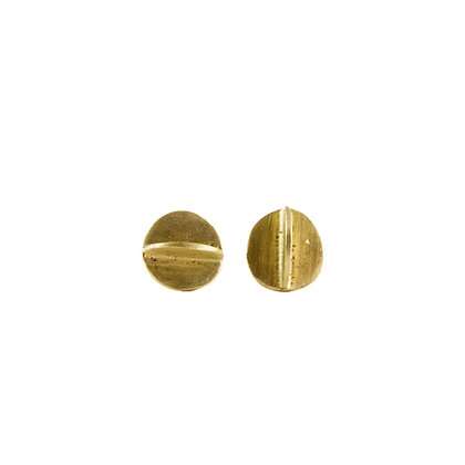 3D CIRCLE STUD EARRINGS