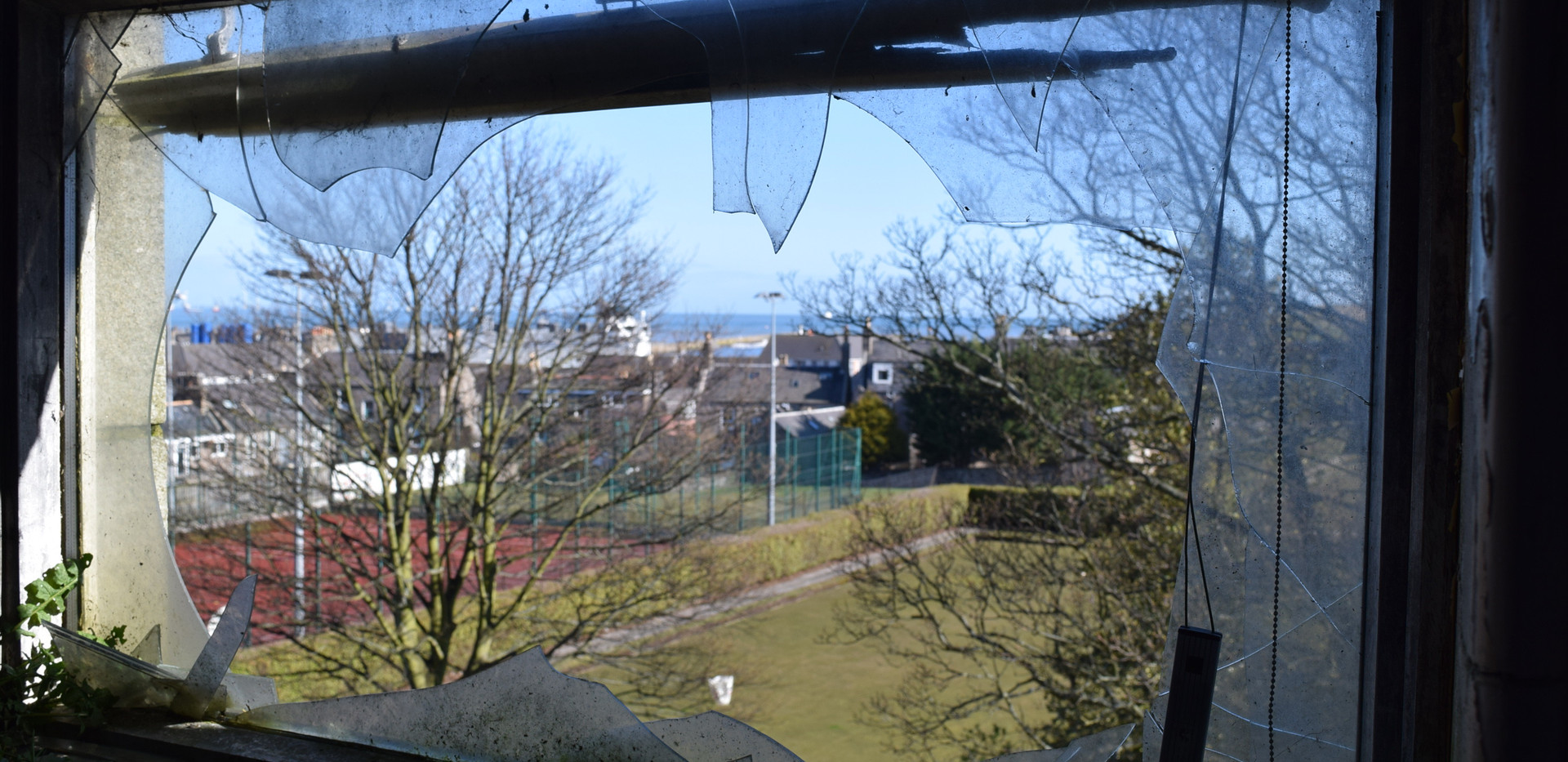 View from inside the Victoria Road School buildings