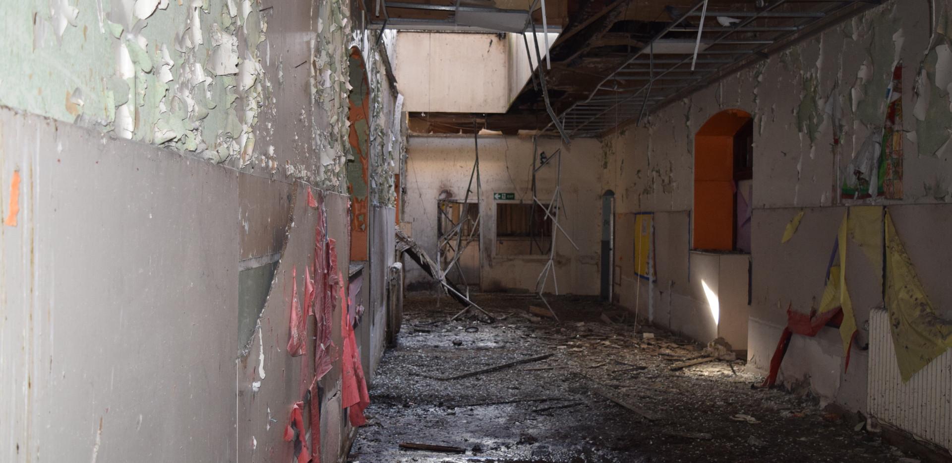 Interior of the Victoria Road School buildings
