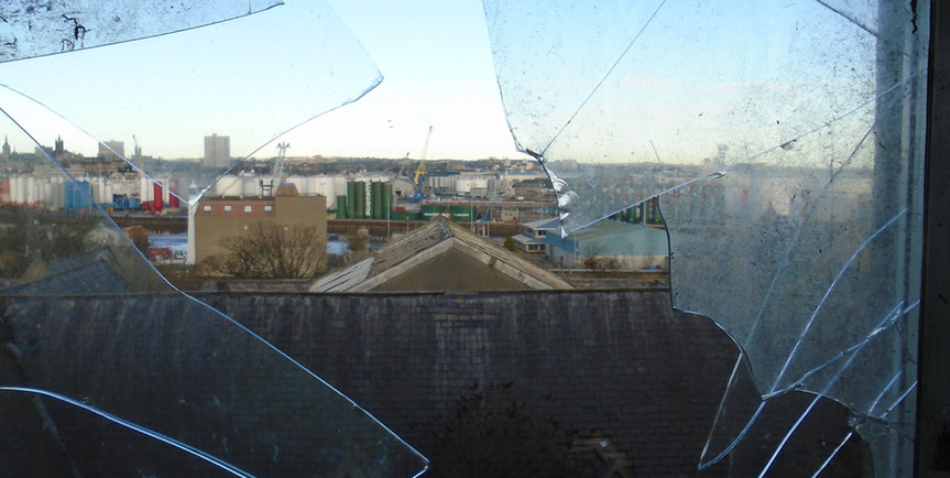 View over Torry from inside the buildings