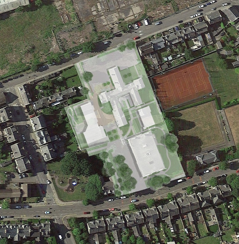 Victoria Road site from above