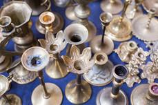 Old Silver Kerzenständer