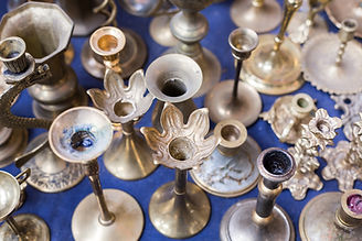 Old Silver Candle Stands