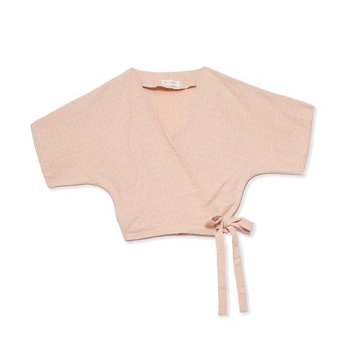 Organic cotton wrap top