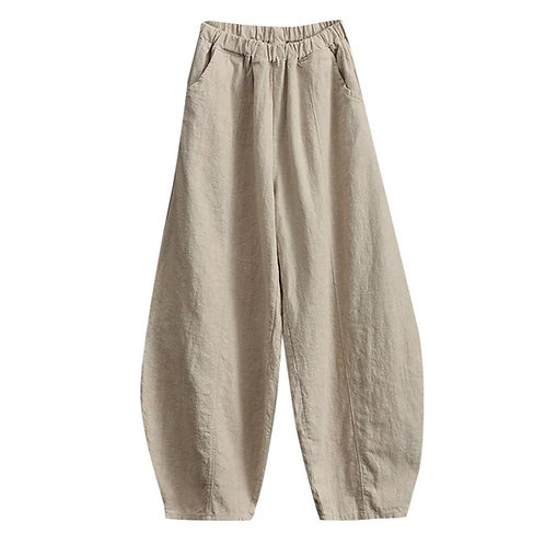 Wide leg cotton pant | Harem pants