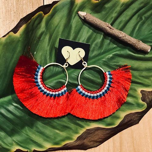 Brass tassels earring