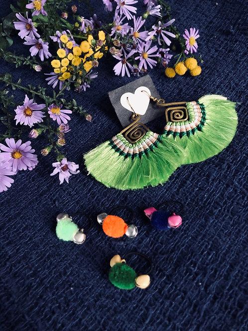 Mandala tassel earring