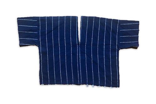 Handwoven indigo top
