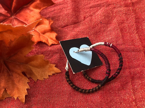 """Hoop earrings  1.5"""" diameter"""