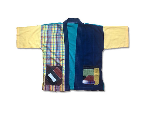 Patchwork design kimono